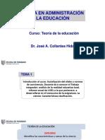 Sesiòn 1 Teoría de la Educación