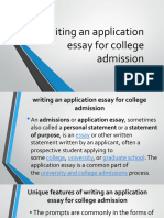 writing an application essay for college admission.pptx