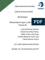 Bacteriologia en Sedimentos y Agua.