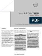 2010 Frontier Owner Manual