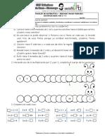 Hoja de Trabajo de Matemática
