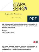 02 Etapa Zero - Matemática - Expressões Numéricas
