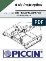 Manual de Instruções Rp - Rpco 1300_1500_1700 Roçadeira Piccin