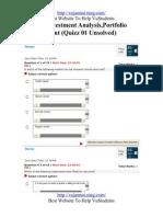 FIN630  Quiz solution