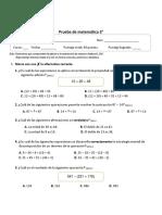 prueba matemática 3° mayo