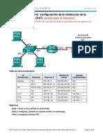 9.2.3.7 Lab - Configuring Port Address Translation (PAT) - ILM.docx