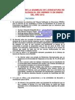 Acta de la Asamblea de Historia realizada el 17 de mayo del 2012