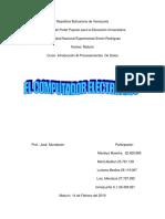 TRABAJO       INTRODUCCION AL PROCESAMIENTO DE DATOS MARIELYS.docx