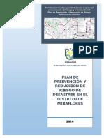 Plan de prevención y reducción de riesgos y desastres