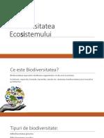 Biodiversitatea ecosistemului