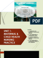 Unit 1-Maternal & Child Health Nursing Practice