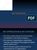 How to Critic Artwork