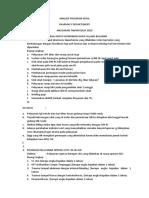 Analisis Program Kerja Pharmacy Departement 2019