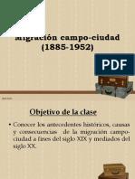 3 Migración Campo-cuidad CHILE SIGLO XX, CUESTION SOCIAL