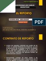 El Contrato de Reporto