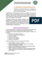 Definición de Planificación y Organización Escolar