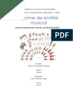 Informe de análisis musical