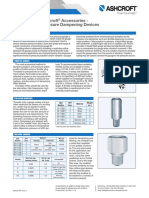 Datasheet Pressure Dampening Accessories