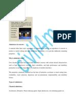 Chemical admixture: