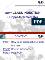 Course Induction (Upper-Inter)