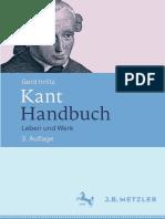 Gerd Irrlitz (Auth.) - Kant-Handbuch_ Leben Und Werk-J.B. Metzler (2015)