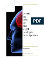 Lynne Cox Music as One of the Eight Multiple Intelligences