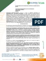 MODELO CONTESTACION INCIDENTE DE DESACATO PARTE INCIDENTADA