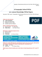 Geography of World Solved MCQs (for CSS, PMS, NTS) GK Paper _ (Part-2)