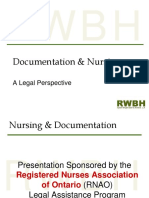 Documentation and Nursing