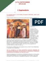 Vietile Sfintilor Ortodoxiei 09 Sinaxarul Lunii Sept Em Brie