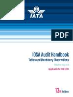 IOSA Audit Handbook - Tables and MOs -(IAH) Ed 13 - July 2019