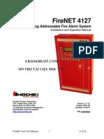 FireNET 4127 - Analog Addressable Fire Alarm System - Installation and Operation Manual (Hochiki)