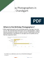 Birthday Photographers in Chandigarh