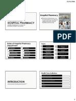 Hospital Pharmacy Handout Ppt