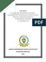 Laporan Pelaksanaan Mtq 2017