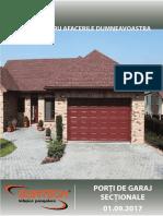 Catalog Technic Porti de Garaj Sectionale 01.09.2017