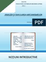 ANALIZA ŞI SIMULAREA MECANISMELOR - 1.pdf