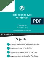 Les bases de Wordpress - Social media Club Tunisia