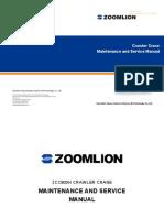 273344007 Zoomlion Crawler Crane Zcc800hwg Maintenance Manual