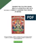 [M893.Ebook] PDF Download Vaibhav Lakshmi Vrat Katha Book In Hindi Vaibhava Laxmi Puja Set Of 8 Books Vaibhav Lakshmi Vrat Book In Hindi.pdf
