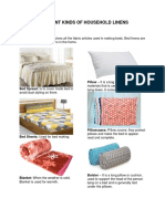 Different Kinds of Household Linens