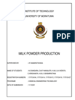 Milk Powder Production Mini Project