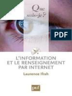 L'Information Et Le Renseigneme - Ifrah Laurence