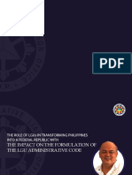 The Impact on the Formulation of the LGU Administrative Code