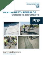 partial depth repair of concrete pavement