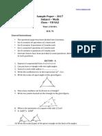 CBSE 2017 Class 7 Math SA2 Sample Paper