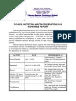 Narrative School Nutrition Month Celebration 2019