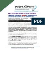 Mandela Center Int. Exige Le Report Des Élections Du 09 Février 2020