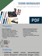 Materi KD 3.7 Solder dan Disoldering Jurusan Teknik Elektronika Industri