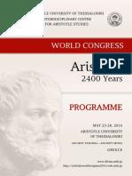 Aristotle 2400 years programme